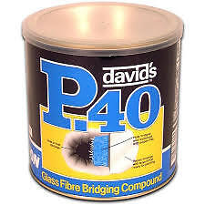 U-pol Isopon Davids P40 No.2 1L  Fibre Glass Bridging Compound BodyFiller Upol • 23.95£