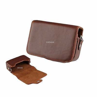 12Z Learther Camera Case For Canon Powershot S100 SX260 SX240 A1300 A810 • 10.99£