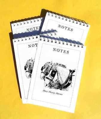 Shire Heavy Horses Pack Of 4 Small A6 Notepads Gift Set • 4.99£
