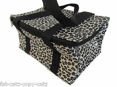 £6.95 • Buy Leopard Animal Print Insulated Cool Warm Reusable Lunch Bag Waterproof Ukseller
