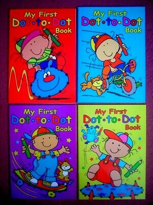 My First Dot To Dot Book - A4 Childrens Activity Book - Boy And Girl • 2.99£