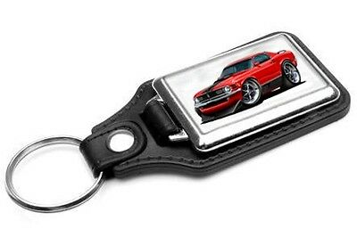 $14 • Buy 1970 Ford Mustang Mach 1 Car-toon Key Chain Ring Fob NEW