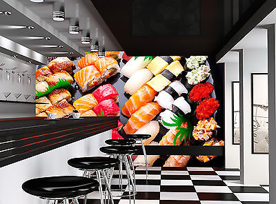 £60.01 • Buy Photo Wallpaper Japanese Sushi GIANT WALL DECOR PAPER POSTER FOR BEDROOM