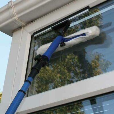 3.5m Telescopic Window Cleaner Kit Window Cleaning Equipment Squeegee Soft Head • 14.99£