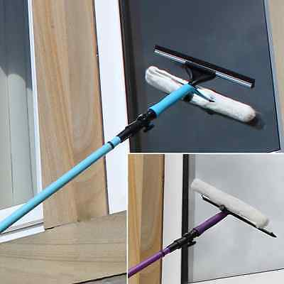 3.5m Telescopic Window Cleaner Kit Window Cleaning Equipment Squeegee Soft Head • 13.99£