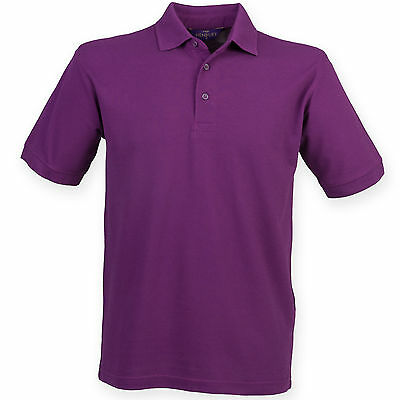 £10.99 • Buy Henbury Men's Casual Formal 65/35 Polo T Shirt HB400  All Colours & Sizes