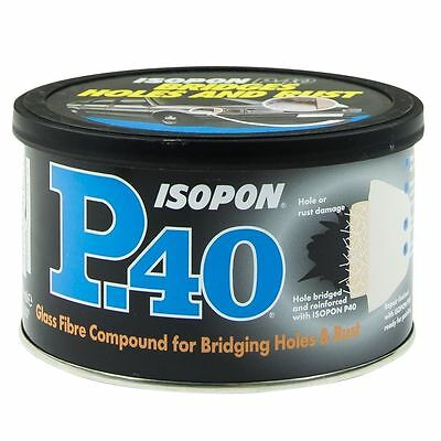 U-pol Isopon P40  Fibre Glass Body Filler 250ml Very Durable Waterproof Freepost • 8.49£