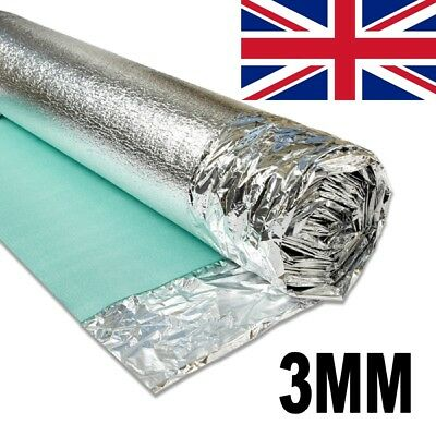 Acoustic Comfort Silver 3mm Underlay For Wood & Laminate Flooring  - 1 Roll 15m² • 22£