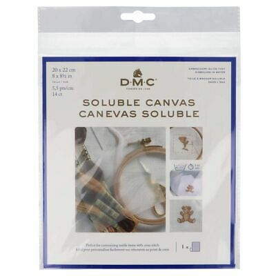 £5.79 • Buy DMC Soluble Canvas 20 X 22cm - 14 Count Water Soluble Canvas 14 Holes/inch