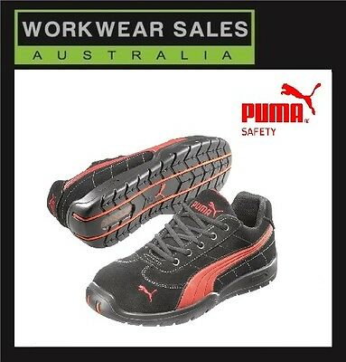 AU129 • Buy Puma Composite Steel Toe Cap Safety Work/Shoes 'Silverstone 642637. Blk/Red