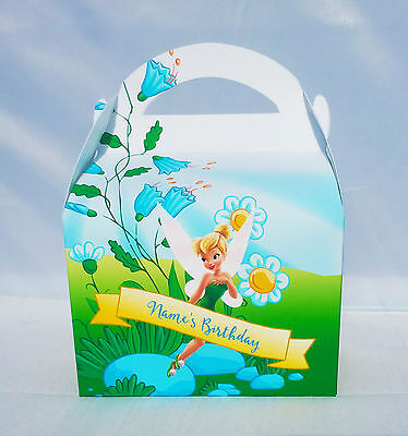 £0.99 • Buy Tinkerbell Peter Pan Children's Personalised Party Boxes Favour 1ST CLASS POST