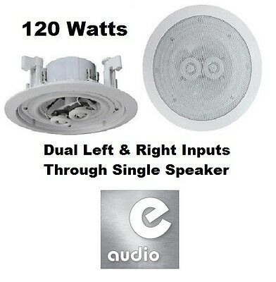 £19.99 • Buy E-audio White 6.5  8 Ohms 120W Dual 2-Way Quality Ceiling Roof Wall Speaker