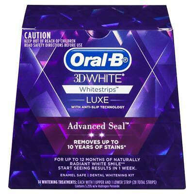 AU26.99 • Buy Oral B 3D White Luxe Advanced Seal 14 Teeth Whitening Treatments