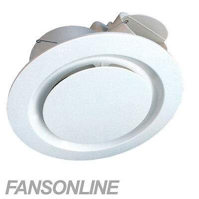 AU99 • Buy Ventair Airbus Ceiling Exhaust Fan | White Low Profile Bathroom Fan