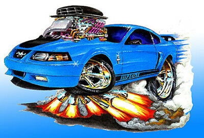 $20 • Buy 2003 2004 Ford Mustang Mach 1 Muscle Car Art Print NEW