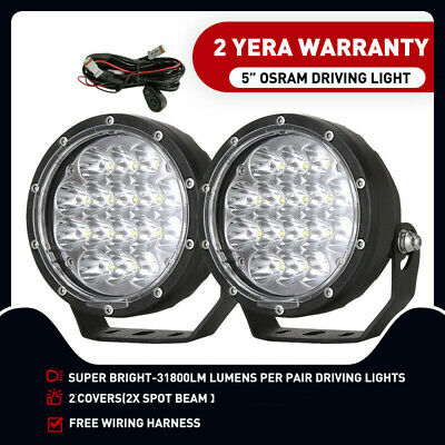 AU69.33 • Buy 5inch OSRAM LED Driving Light Spotlights Round Offroad Work 4WD Black 4x4 Spot