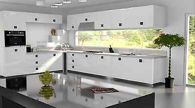 £3.50 • Buy White Gloss Replacement Acrylic Kitchen Doors Drawers Fronts