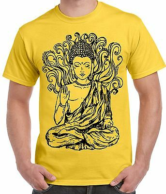 Buddha Design Large Print Men's T-Shirt - Buddhist Buddhism Meditation • 11.99£