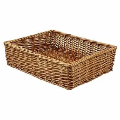 Padstow Wicker Willow Storage Tray Hamper Basket Bread Fruit Gift Large Small • 12£