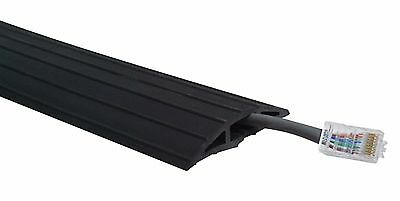 £114.95 • Buy 2m / 2 Metre Black Rubber Floor Cable / Cable Tidy / Wire Safety Protector Heavy