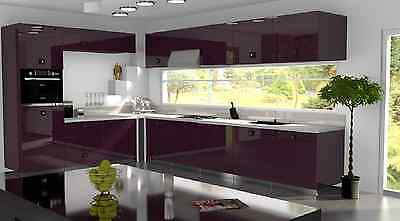 £3.50 • Buy Violet Gloss Replacement Acrylic Kitchen Doors Drawers Fronts
