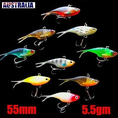 AU5.99 • Buy Soft Plastic Vibe Fishing Lure Tackle  55mm Vibes  Flathead Bream Whiting Lures