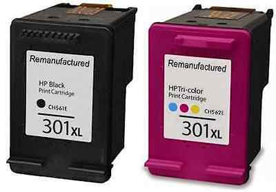 Remanufactured Ink For HP 301XL 301 XL Black And Colour Ink Cartridges • 32.49£
