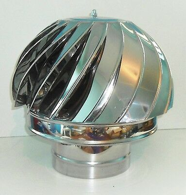 £34.99 • Buy CHIMNEY SPINNER COWL Stainless Steel Spinning Wind Rotating Cap Fit 100 To 350mm