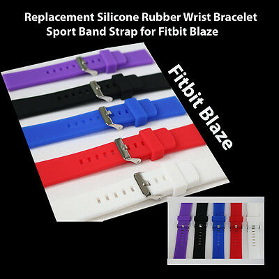 $ CDN6.02 • Buy Replacement Silicone Rubber Wrist Bracelet Sport Band Strap For Fitbit Blaze
