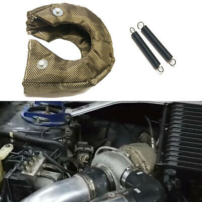 $26.98 • Buy T3 T25 T28 Titanium Basalt Turbocharger Thermal Turbo Shield Heat Blanket Cover