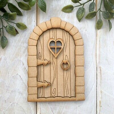 £4.20 • Buy Wooden MDF FAIRY DOOR KIT Decorate Your Own Pixie Hobbit Magical Tooth Fairy SF