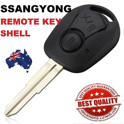 AU11.44 • Buy Ssangyong 2 BUTTON Remote Key Case SHELL Suit Actyon SUV Kyron Rexton