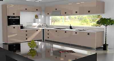 £3.50 • Buy Cappuccino Gloss Replacement Acrylic Kitchen Doors Drawers Fronts