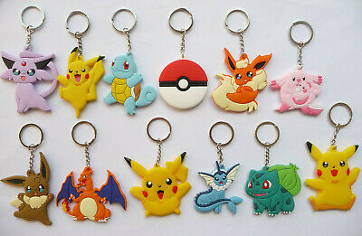 £2.45 • Buy POKEMON PIKACHU SQUIRTLE CHARIZARD KEY RING Keychain Party Bag Filler NEW