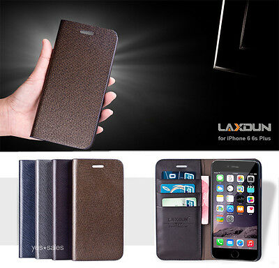 AU15.89 • Buy IPhone SE 8 6s Plus Case Laxdun Real Flip Leather Wallet Card Holder Case Cover