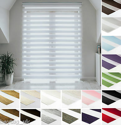 Made To Measure Premium Day And Night Cassette Zebra/Vision Window Roller Blinds • 49.90£