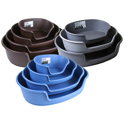 Heavy Duty Plastic Dog Bed Waterproof Comfortable Cat Sleep Basket Extra Large • 14.99£