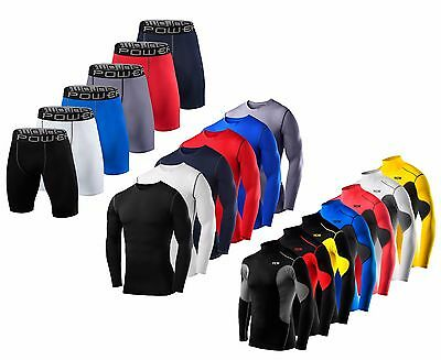 TCA & PowerLayer Compression Mens Boys Top & Shorts Set Base Layer • 14.99£