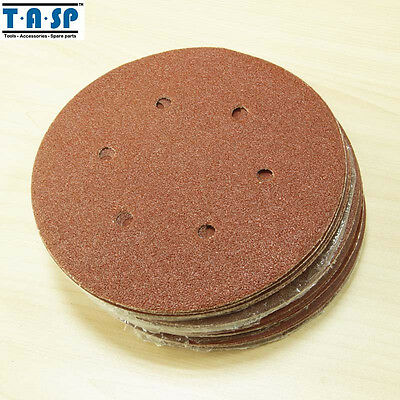 AU19.06 • Buy 25PC Sanding Disc 7-inch 6 Hole Abrasive Sanding Paper 60 80 180 240 Grit 180mm