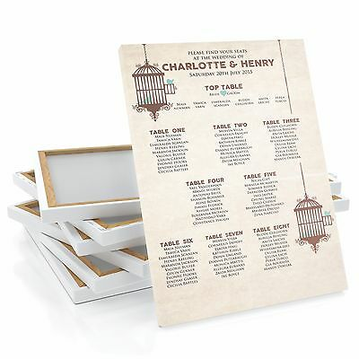 £34.99 • Buy Personalised Wedding Wedding Table Plan / Seating Plan Large A1 A2 A3