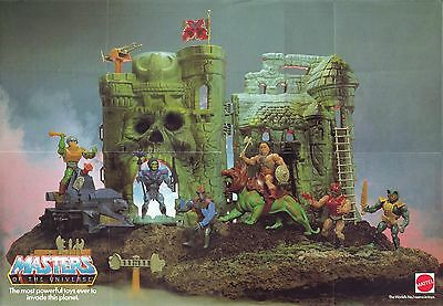 $17.98 • Buy He-Man And The Masters Of The Universe Mattel Toys Display POSTER