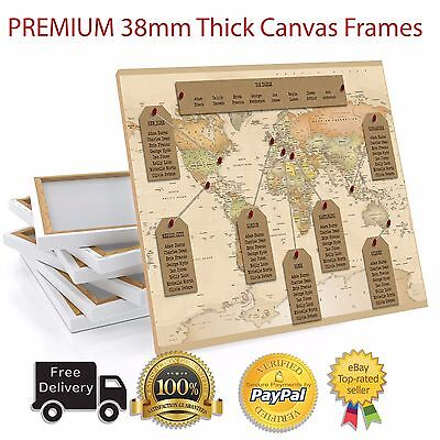 £42.99 • Buy Personalised Travel World Map Wedding Table Plan / Seating Plan Large A1 A2 A3