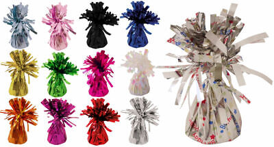 £6.19 • Buy 6 Foil Balloon Weights - Choose From 12 Colours - Metallic Birthday Party