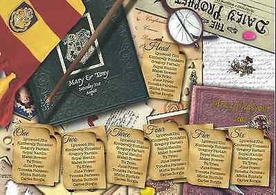 £42.99 • Buy Harry Potter Themed Wedding Table Seating Plan Chart Canvas Print Poster Menu
