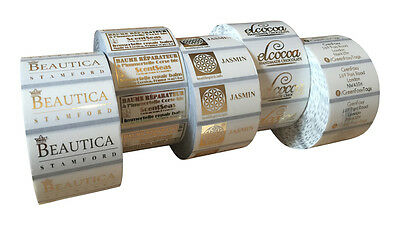 £6.99 • Buy 100 Gold Metallic Personalised Clear Gloss Labels
