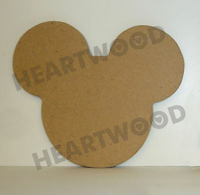 £2.81 • Buy MICKEY MOUSE HEAD SHAPE IN MDF 110mm X 6mm/WOODEN CRAFT SHAPE/BLANK DECORATION