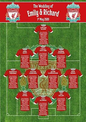 £37.99 • Buy Football Rugby Team Wedding Table Plan Seating Chart Frame Canvas Print ANY TEAM