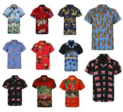 £7.95 • Buy Hawaiian Shirt Mens Palm Tree Beach Holiday Parrot Fancy Dress Stag Party Loud