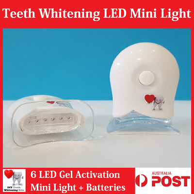 AU19.99 • Buy White Teeth Whitening Gel Activation 6 LED Mini Light + Mouth Tray + Batteries..