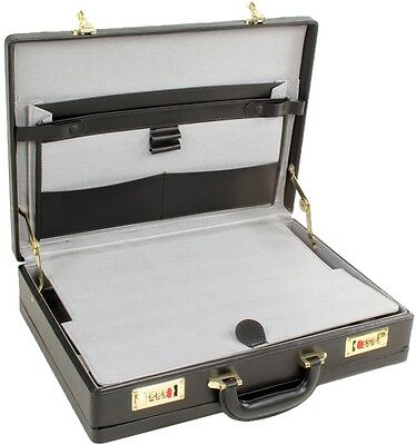 £29.49 • Buy Quality Unisex Executive Faux Leather Business Briefcase Attache/Travel Case